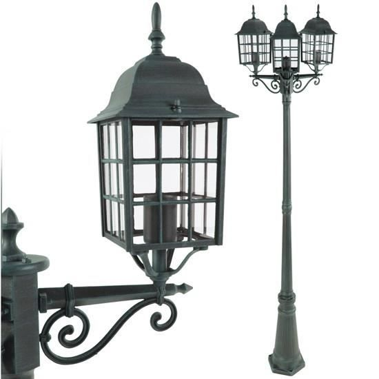 lampadaire d 39 ext rieur verte 3 lanternes achat vente. Black Bedroom Furniture Sets. Home Design Ideas