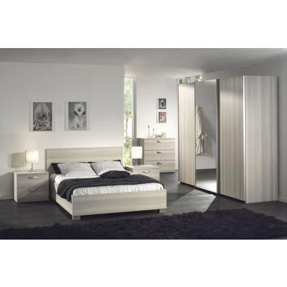 Chambre coucher adulte compl te stanley 180x200 achat for Chambre adulte complete en pin