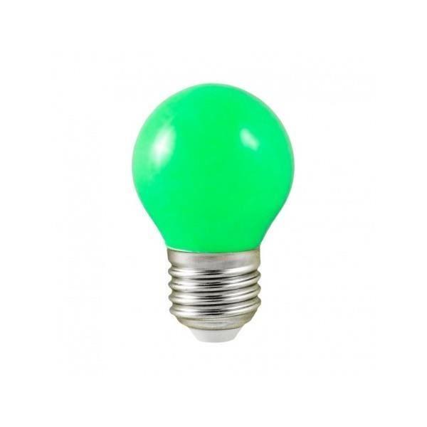AMPOULE - LED Ampoule LED E27 Bulb G45 1W Vert