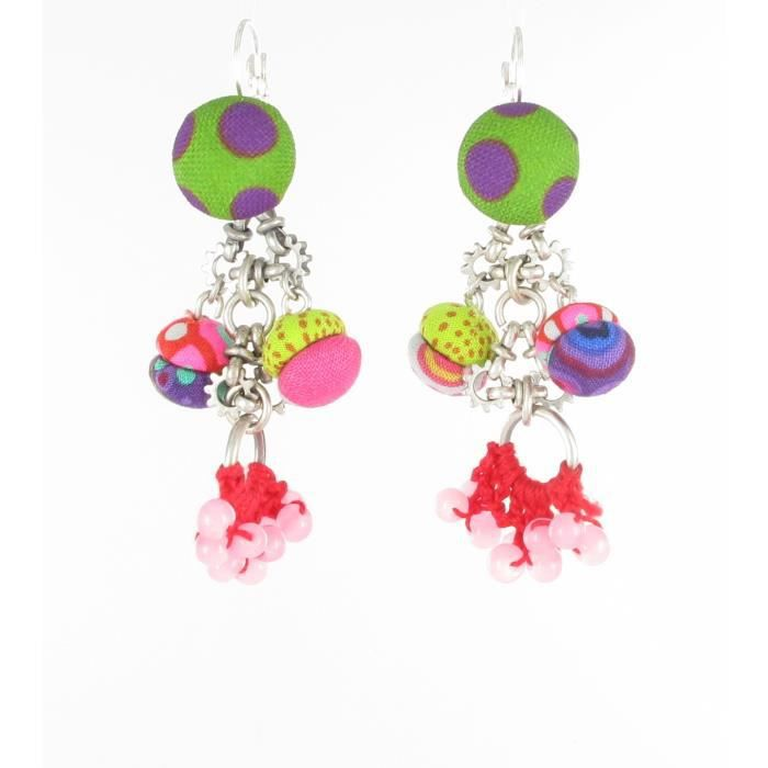 Boucles doreille Dentelle - 2 - Piti by Cendrillon Multicolore - Assort.