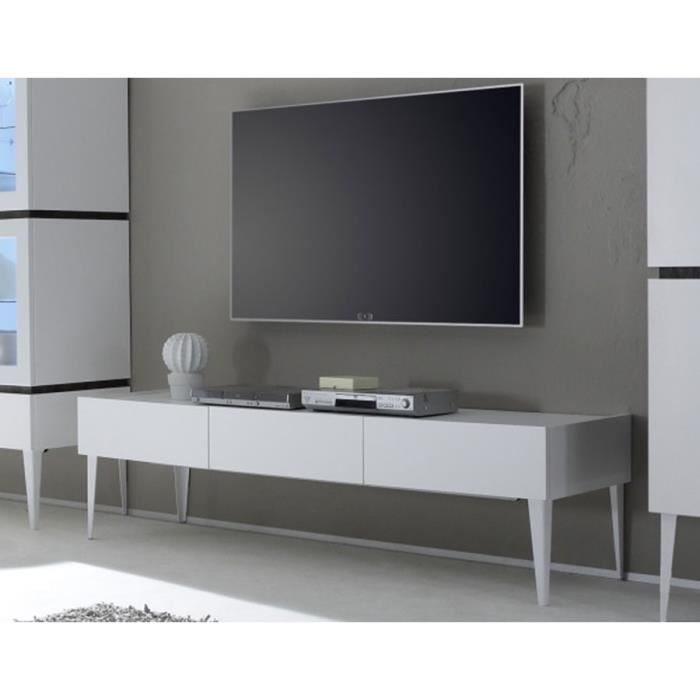 meuble tv gris ou blanc 3 tiroirs legos 2 blanc achat vente meuble tv meuble tv gris ou. Black Bedroom Furniture Sets. Home Design Ideas