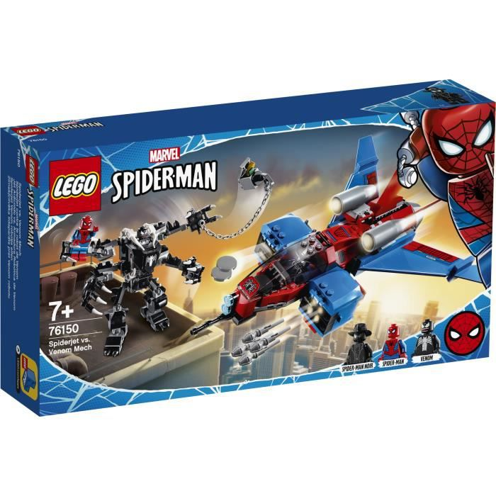 Photo de lego-super-heroes-76150-le-spider-jet-contre-le-robot-de-venom
