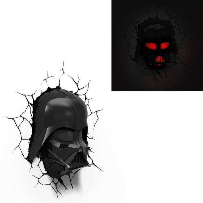 star wars lampe d corative 3d dark vador achat vente applique cdiscount. Black Bedroom Furniture Sets. Home Design Ideas