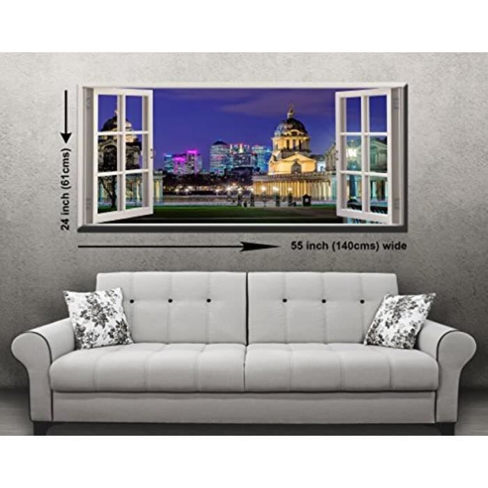 Greenwich observatory fen tre panoramique sur toile for Fenetre 50x70