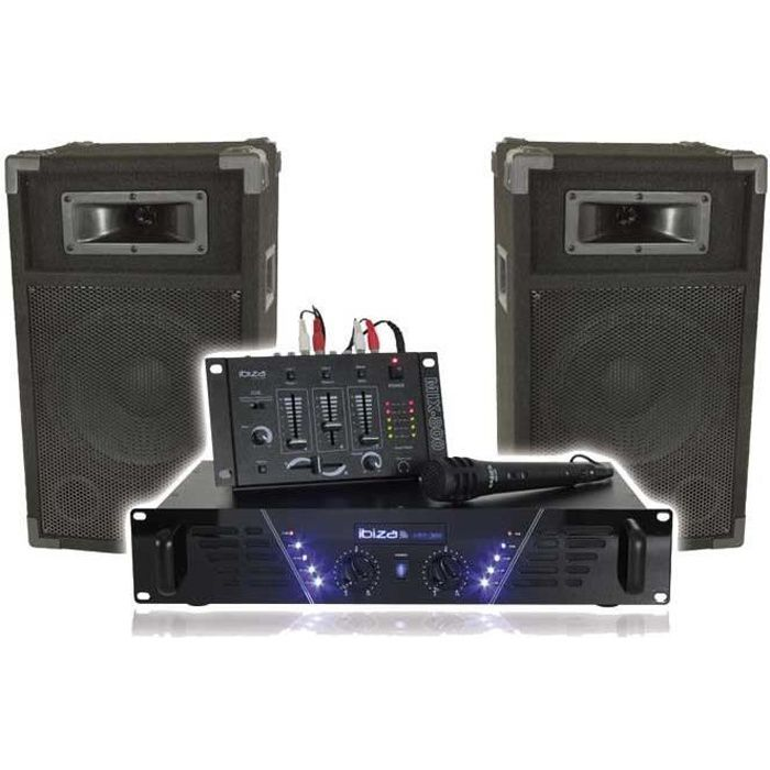 ibiza dj 300 kit de sonorisation disco 480w pack sono avis et prix pas cher cdiscount. Black Bedroom Furniture Sets. Home Design Ideas