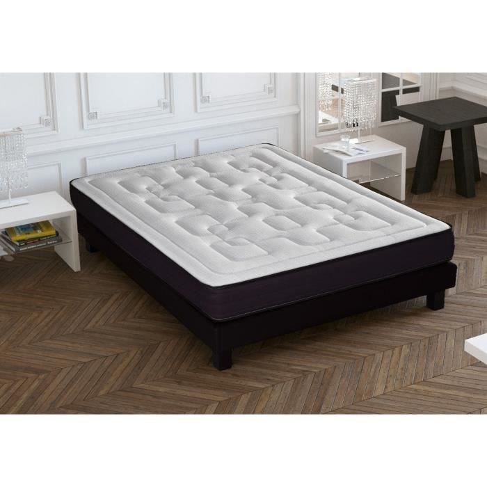 empire ensemble matelas sommier 160x200 mousse ferme 24 kg m3 50 kg m3 2 personnes. Black Bedroom Furniture Sets. Home Design Ideas