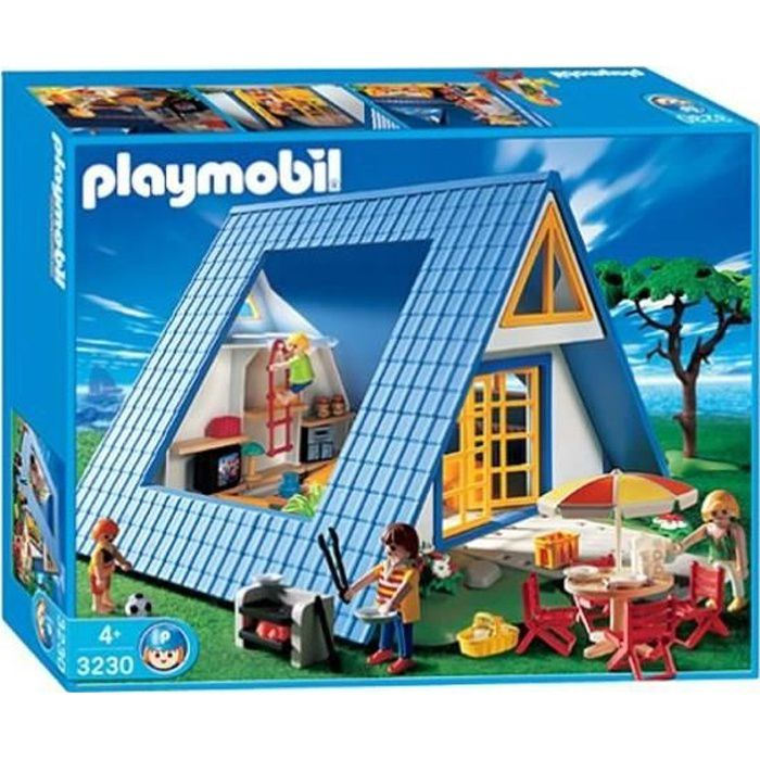 playmobil 3230 famille maison de vacances achat vente. Black Bedroom Furniture Sets. Home Design Ideas