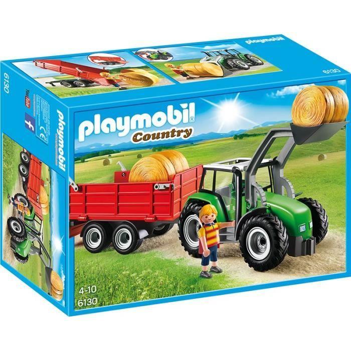 Photo de playmobil-6130-country-tracteur-avec-pelle-et-remorque