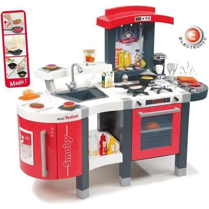 smoby cuisine super chef mini tefal achat vente dinette cuisine les soldes sur. Black Bedroom Furniture Sets. Home Design Ideas