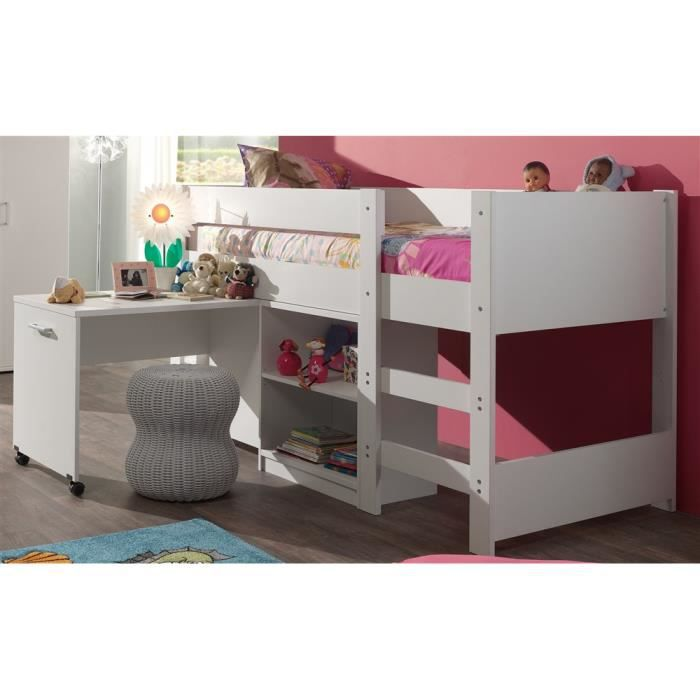 lit compact milan 90x200 blanc achat vente lits. Black Bedroom Furniture Sets. Home Design Ideas