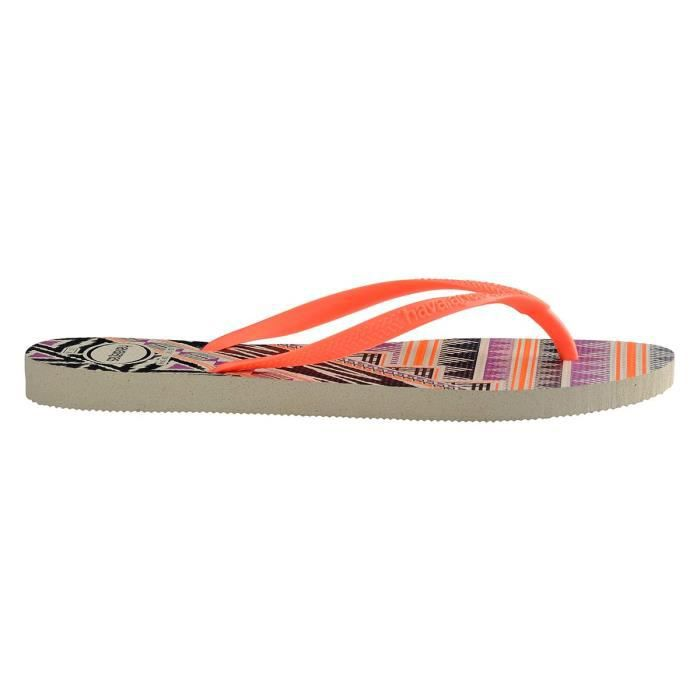 Tongs oranges Slim Tribal