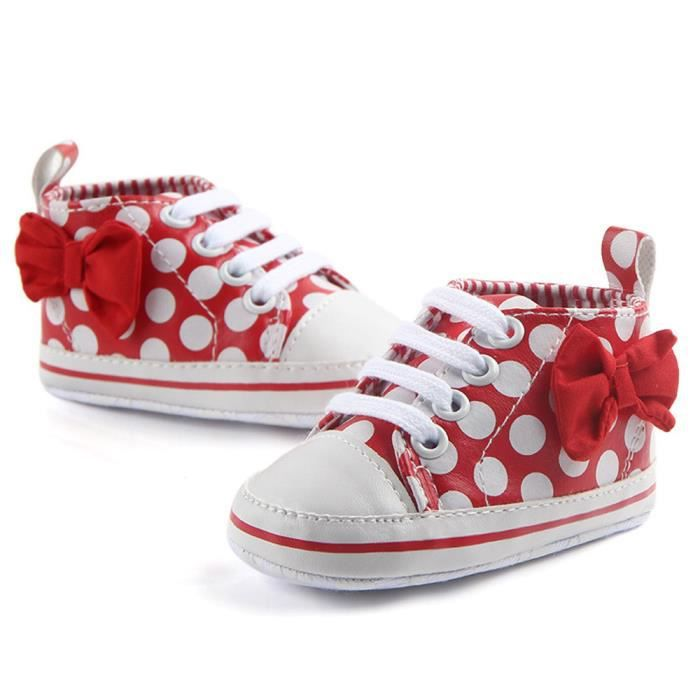 Dot Xyy71226511rdfriendprice Sneaker up Enfant Anti Bowknot Mode Chaussures Bb Imprimer slip Lace Rouge x5w7Iq00U