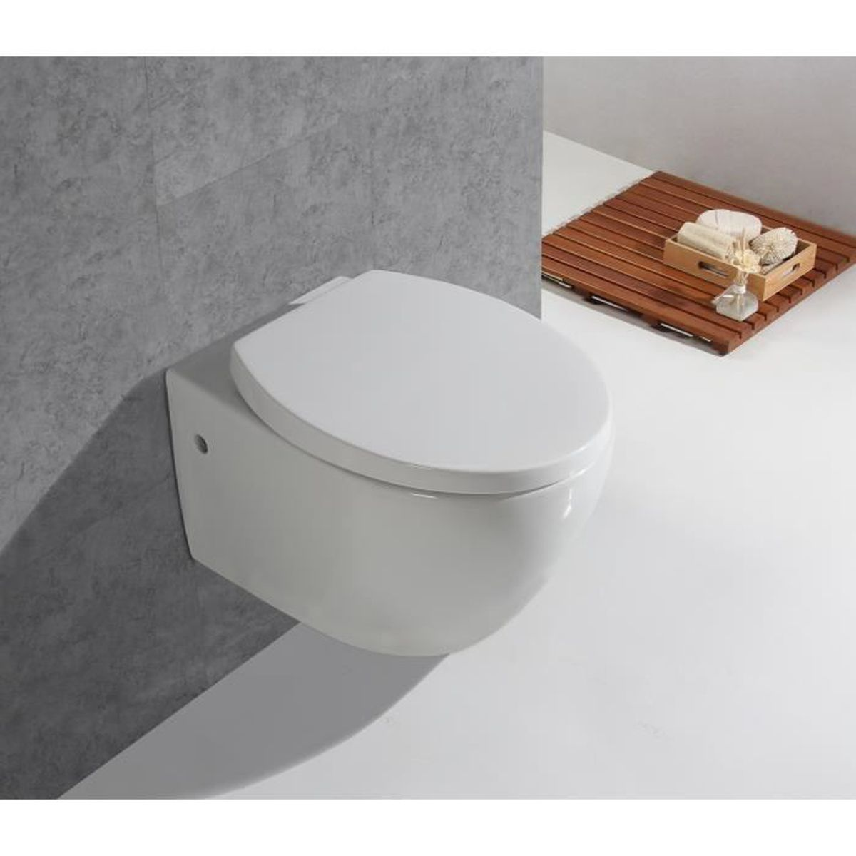 Largeur Wc Suspendu Geberit wc suspendu céramique toilette mural avec abattant lunette
