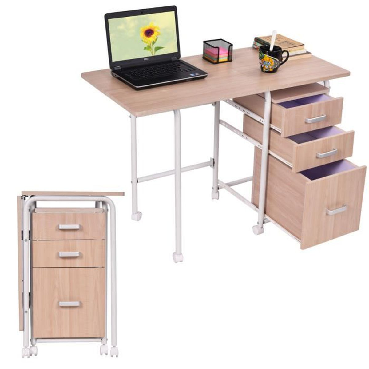 bureau informatique pliable table d 39 ordinateur de travail