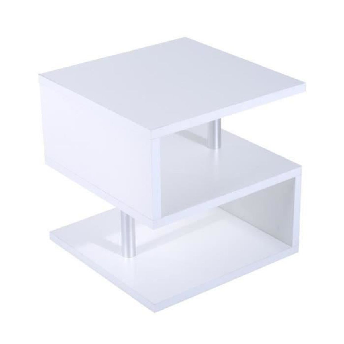 Table basse carre laquee blanc achat vente table basse - Table basse salon moderne ...
