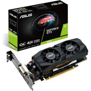 CARTE GRAPHIQUE INTERNE ASUS GeForce GTX 1650 O4G, 4096 MB GDDR5, Low Prof