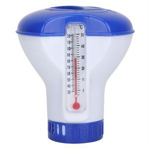 Diffuseur de chlore flottant avec thermomètre intégré