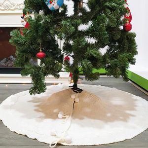 30 inches AMAES Couvre-Pied De Sapin Jupe Blanche Pure DArbre De Fausse Fourrure Pour Les D/écorations De Noel