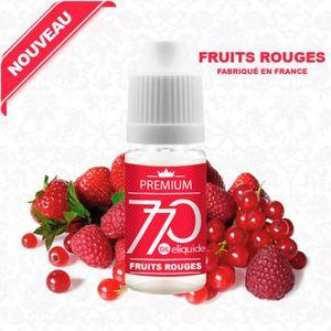 LIQUIDE E-LIQUIDE SAVEUR FRUITS ROUGES 10ML EN 11MG DE NIC
