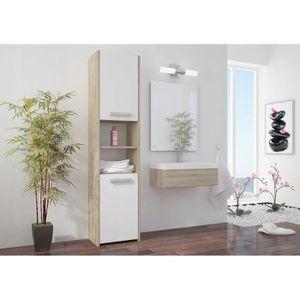 COLONNE - ARMOIRE SDB PRAGUE W1 | Meuble Colonne de salle de bain 30x30x