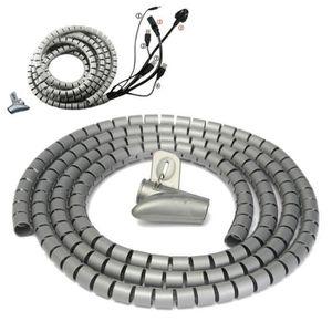 CÂBLE - FIL - GAINE MM-10PCS 2M Ø15mm Gaine Tube Spirale Range Cache C