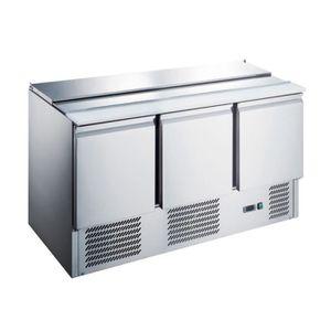 ARMOIRE RÉFRIGÉRÉE Saladette réfrigérée inox - 3 portes