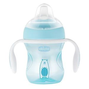 USTENSILES BÉBÉ CHICCO Tasse Transition bec souple silicone x1 ble