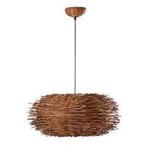 LUSTRE ET SUSPENSION Suspension Nido D60 cm marron 1 lampe E27 60w