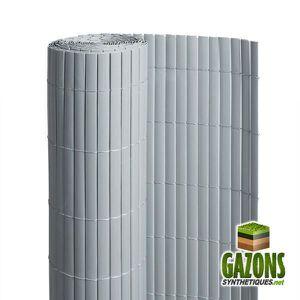 CLÔTURE - GRILLAGE Canisse PVC   Gris   Double Face 1 m x 3 m