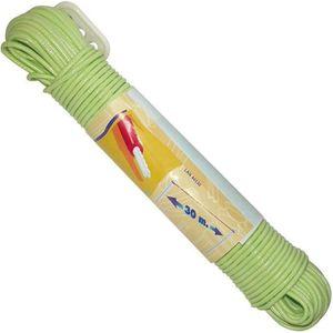 FIL À LINGE - ÉTENDOIR Corde à linge + tendeur - 30 m - coloris assortis