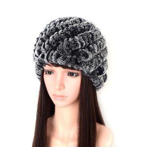 CHAPEAU Bonnet Hiver Bonnets Femmes Rex Lapin Chapeaux Cha