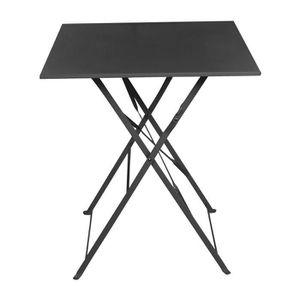 TABLE DE JARDIN  Table de jardin carrée pliante Acier 60x60cm POP-A