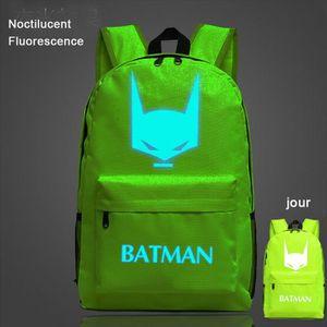 CARTABLE Bat Man-Sac à dos Noctilucent Fluorescence-cartabl