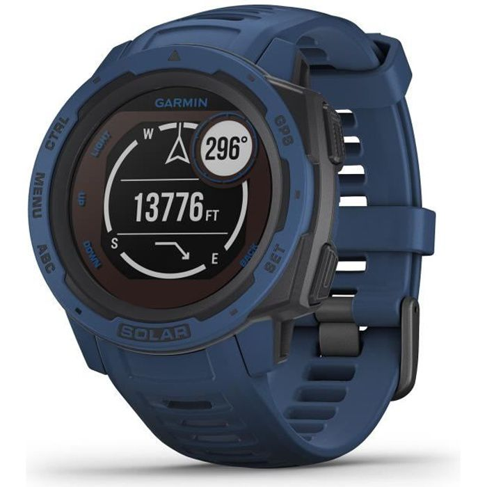 GARMIN Instinct® Solar Montre connectée, Tidal Blue