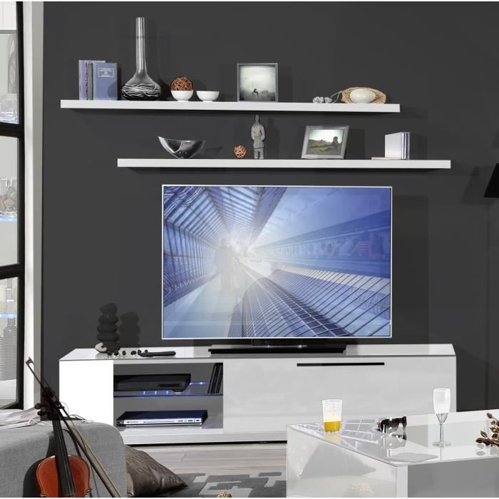 vertigo meuble tv 170 cm blanc achat vente meuble tv vertigo meuble tv 170 cm blanc panneaux. Black Bedroom Furniture Sets. Home Design Ideas