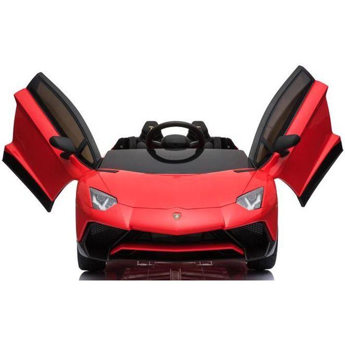 Voiture électrique enfant Lamborghini Aventador 131 cm CUIR EVA Rouge