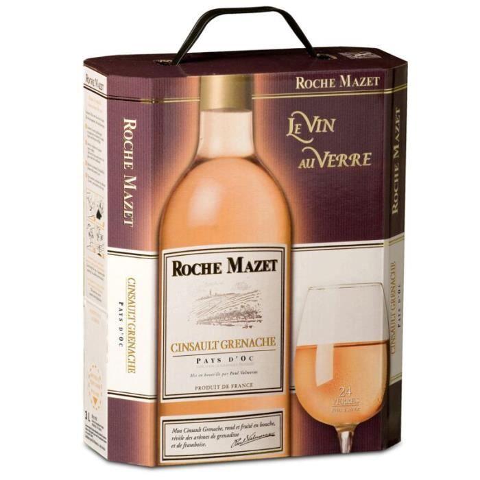 Roche Mazet IGP Pays d'Oc - Vin rosé du Languedoc - 3 L