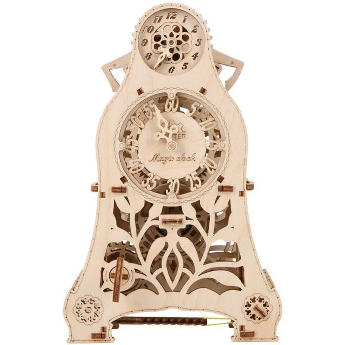 Bricolage assemblage jouets en bois Transmission modèle magique pendule horloge Woodcraft Construction Kit assemblage Puzzle jouet