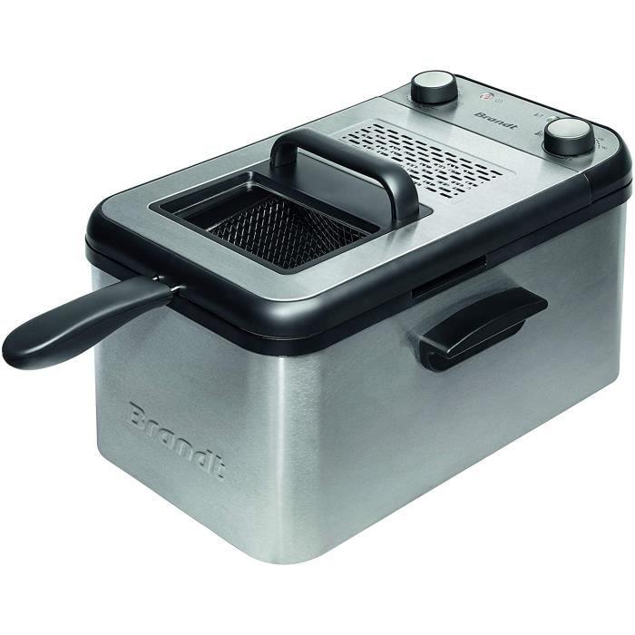 FRITEUSE Brandt FRI3200 - Friteuse - Jusqu'&agrave 1,2Kg de pommes de terre frites - Minuteur 30 min - Filtre anti-odeur - 264