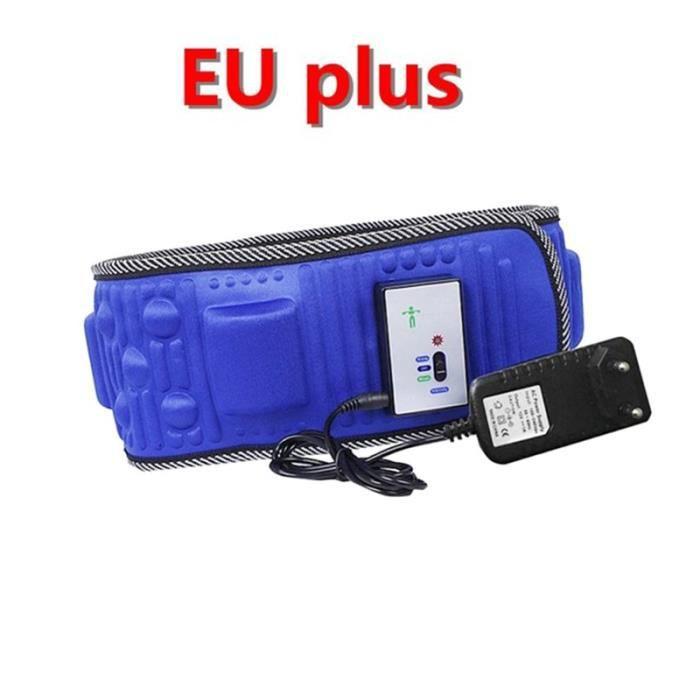 CEINTURE D'ELECTROSTIMULATION,Corps électrique vibrant minceur ceinture fonction de chaleur Massage corps complet - Type WHITE #B