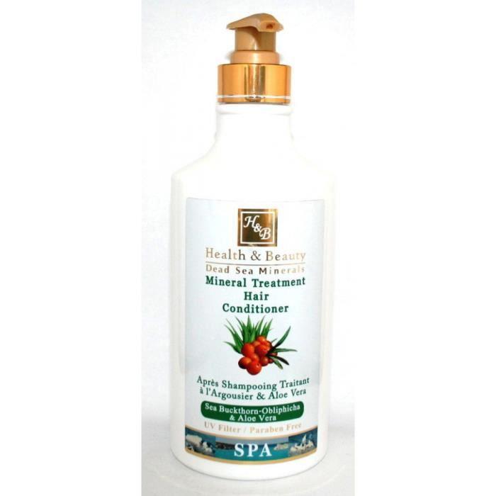 Health and Beauty Dead Sea Minerals - Après-shampoing traitant à largousier et l'aloe vera - 780 ml