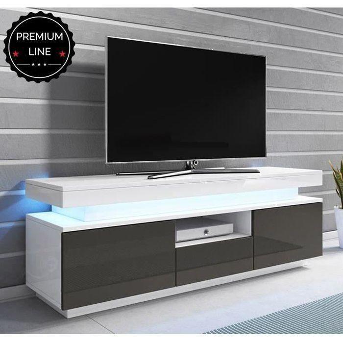 Meuble TV modèle Persis (130cm) bianc et gris