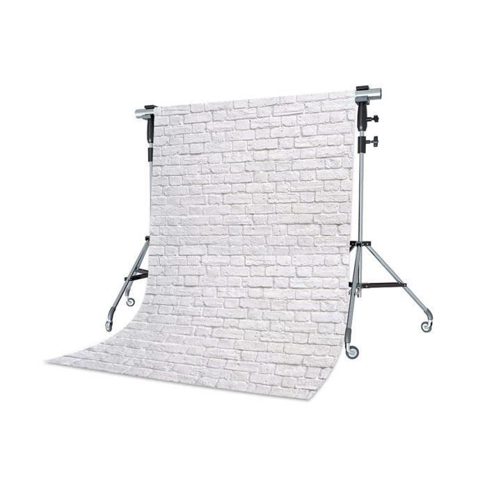WaW Toile de Fond Photo Studio Blanc Rustica Brique Fonds pour Photographie