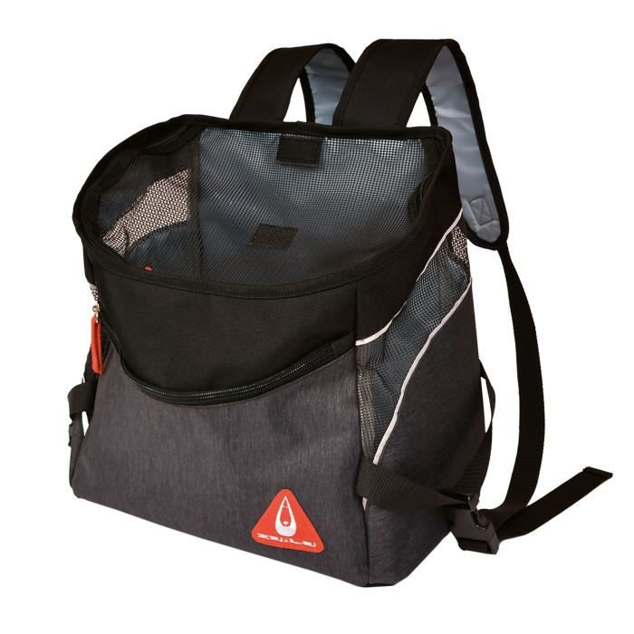 DUVO Sac à dos Promenade London Backpack Sporty - 32,5x19x31 cm - Noir - Pour chat et chien de petite taille