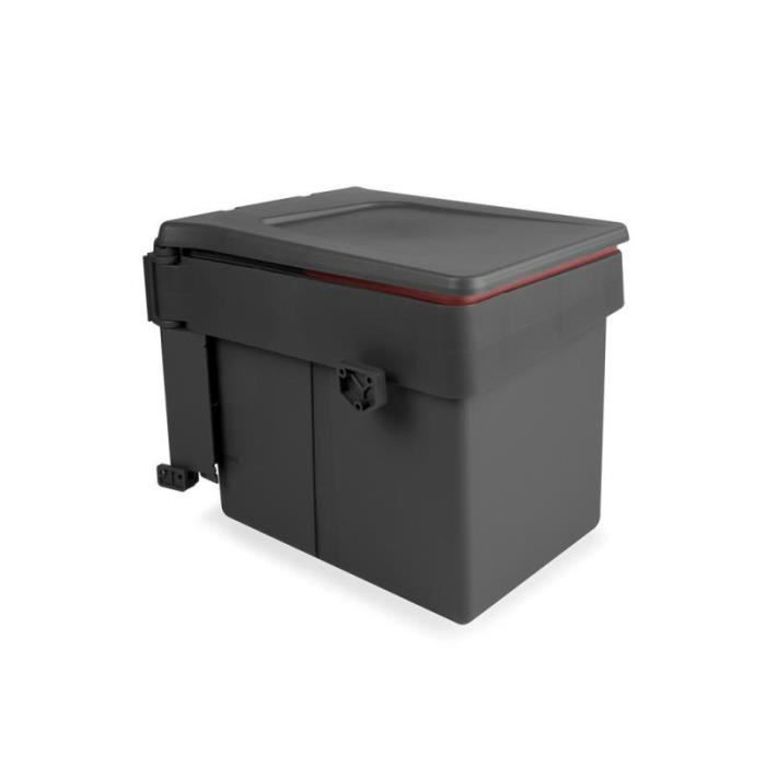 Poubelle de porte à ouverture automatique rectangulaire - 1 seau 15 litres