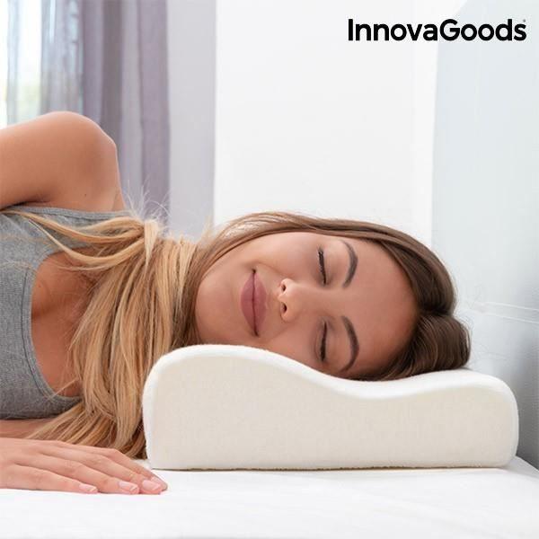 Oreiller cervical en mousse viscoélastique - Corrige la posture et répartit le poids soins du mal de dos