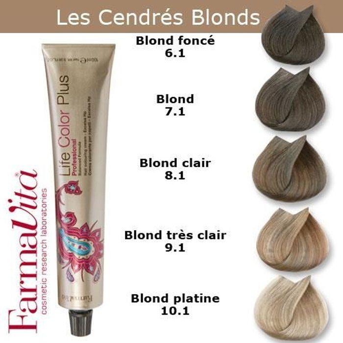 Coloration cheveux FarmaVita - Tons Cendrés Blonds Blond foncé cendré 6.1