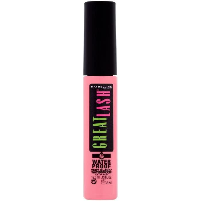 Maybelline New York - Mascara Longueur - Great Lash - Waterproof Very Black - 12,5 ml