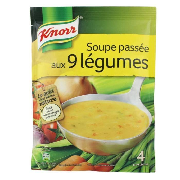 Soupe passée aux 9 légumes 105 GR Knorr