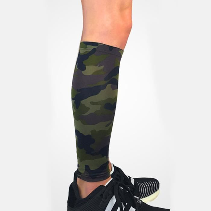 PROTEGE-CHEVILLES - CHEVILLERE,1 pièces mollet Compression jambe manchon extérieur mollet jambe manches - Type camouflage-L